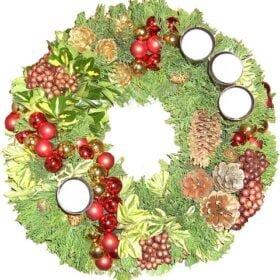 kerstkransrond